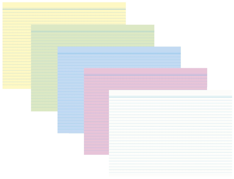 RNK  Farbige Karteikarten, 100er Packung