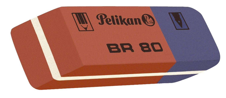 Pelikan BR 80 Radiergummi für Tinte, Kugelschreiber und Bleistift