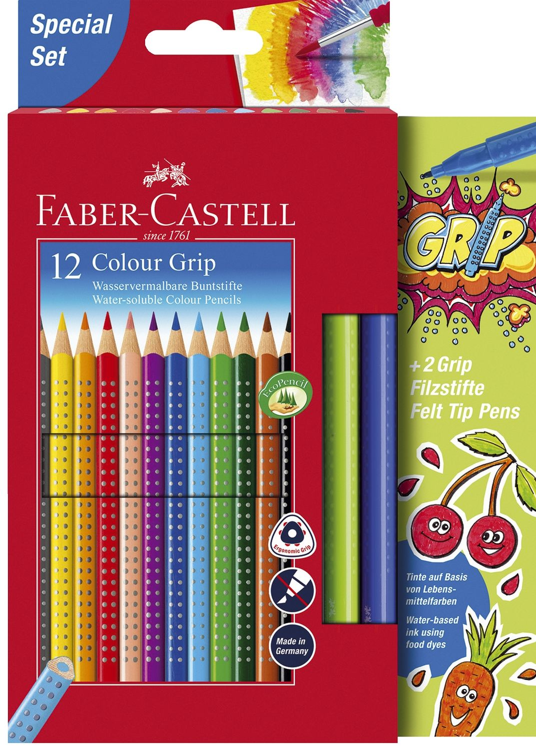 Faber-Castell Colour Grip Buntstifte, 12er Pack