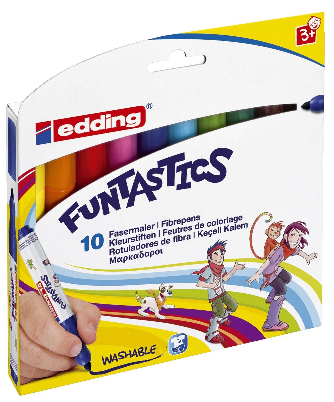 edding Funtastics Dicke Filzstifte, 10er Packung