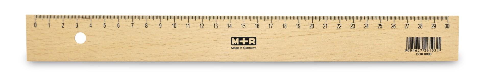 Möbius & Ruppert  Holzlineal 30 cm