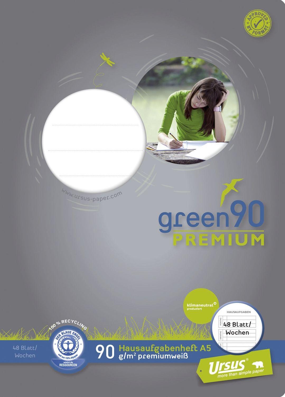 Ursus Green 90 Premium Hausaufgabenheft, Recycling