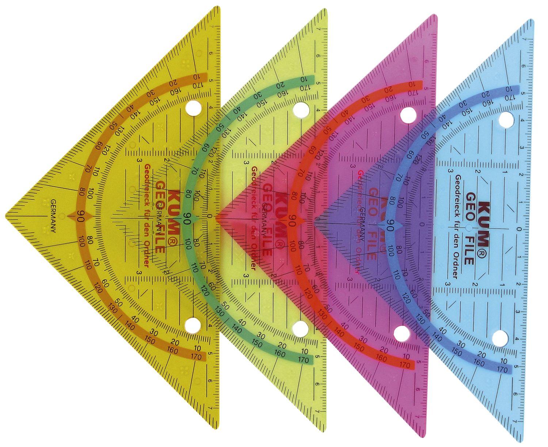 KUM  Geometrie-Dreieck, zum Abheften