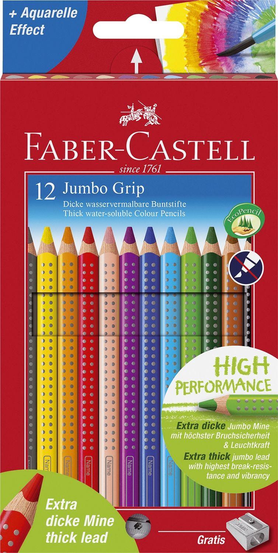 Faber-Castell Jumbo Grip Buntstifte 12er Pack inkl. Spitzer