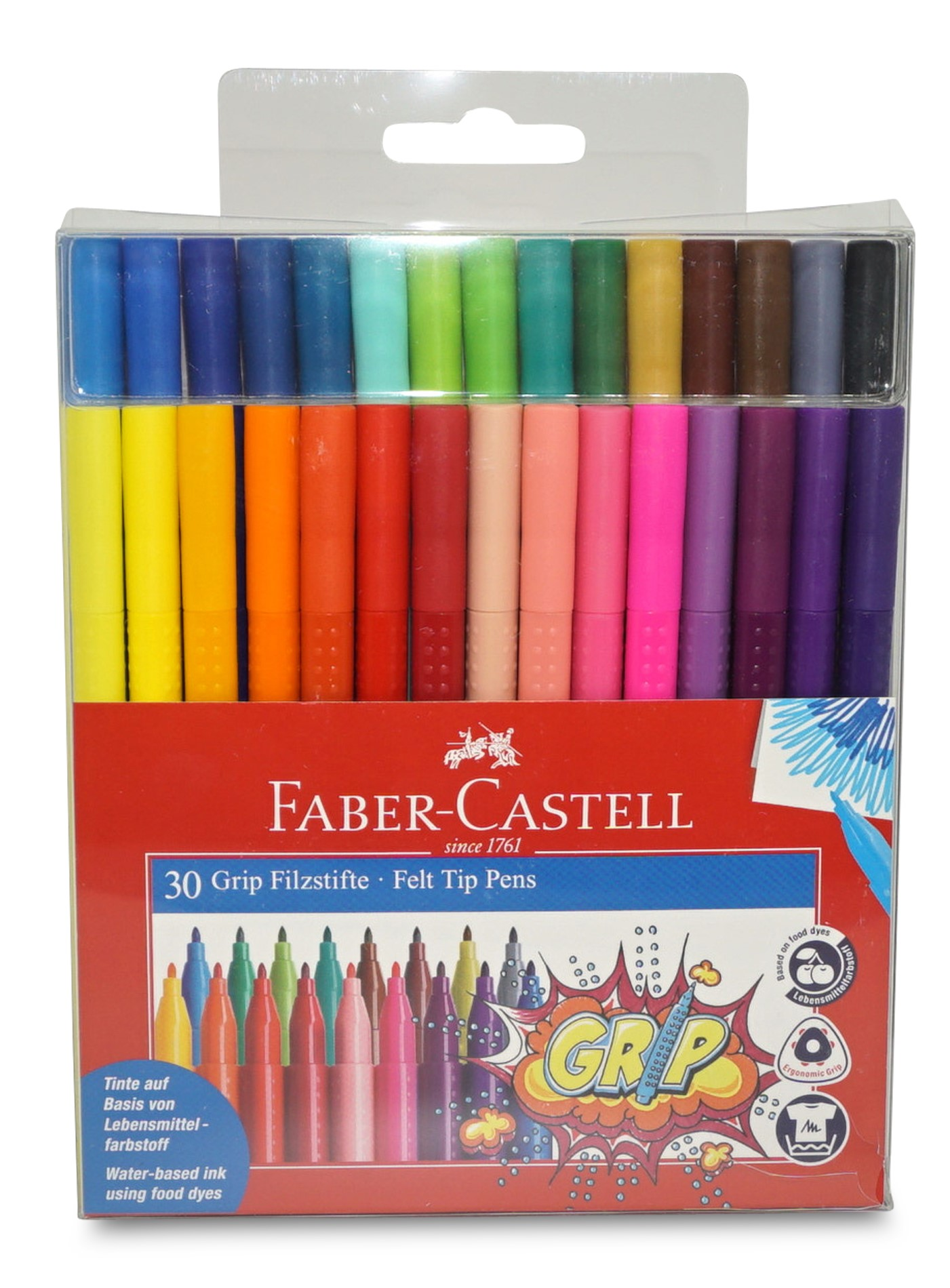 Faber-Castell Colour Grip Filzstifte, 30er Etui