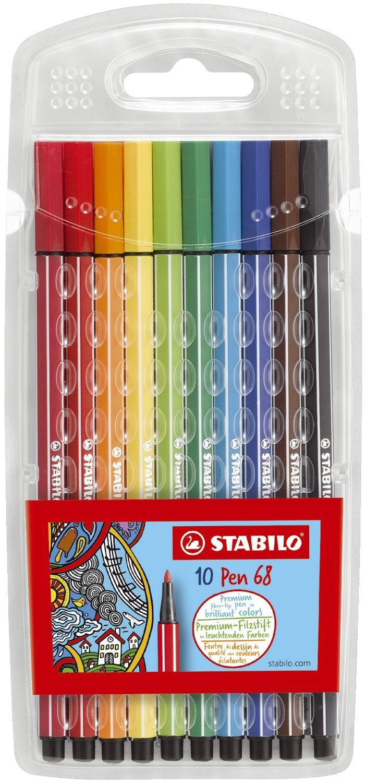 Stabilo Pen 68 Fasermaler, 10 Farben
