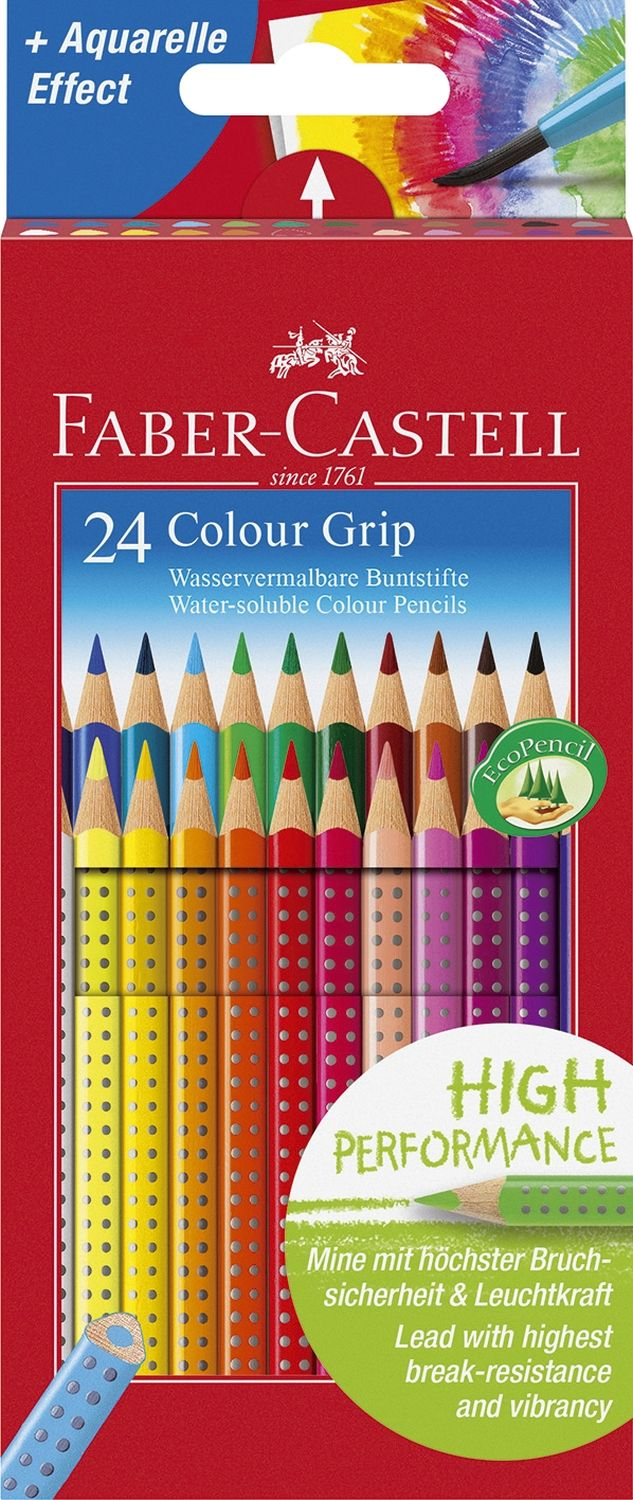Faber-Castell Colour Grip Buntstifte, 24er Pack