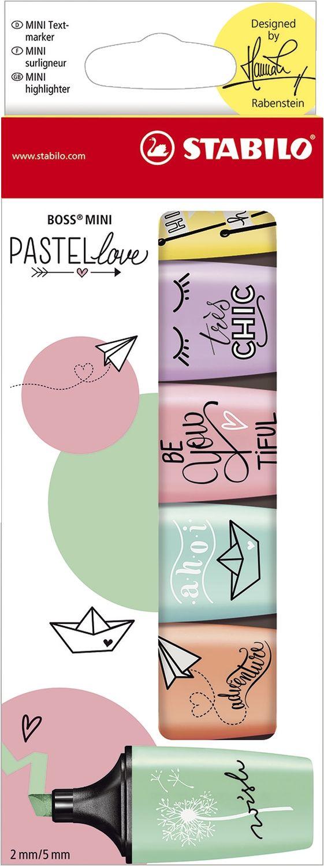 Stabilo Pastellove Mini Textmarker