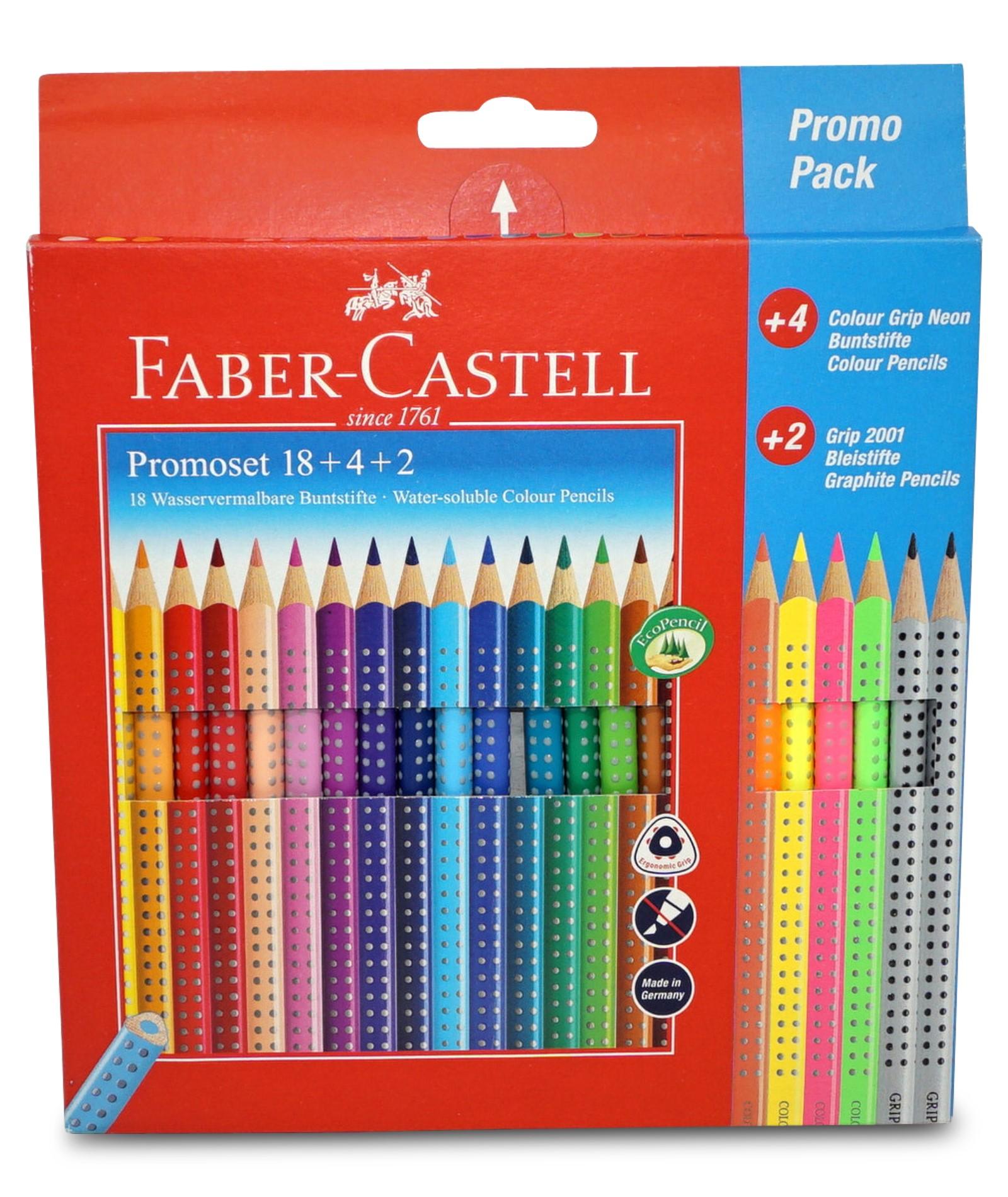 Faber-Castell Grip Bunt- und Bleistiftset: 18 + 4 + 2
