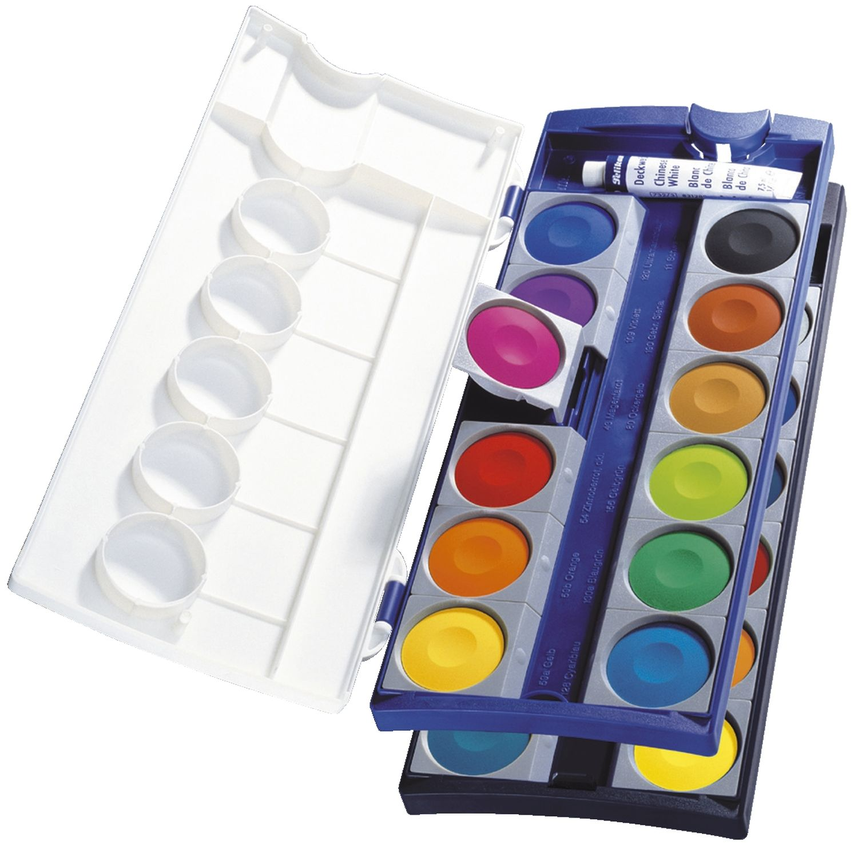Pelikan Farbkasten K24, 24 Farben + Deckweiß