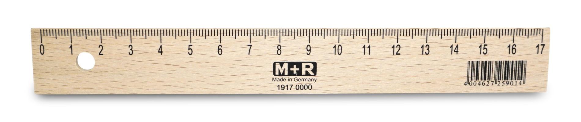 Möbius & Ruppert  Holzlineal 17 cm