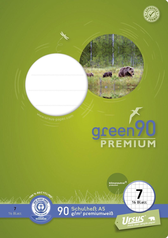 Ursus Green 90 Premiumheft, Recycling