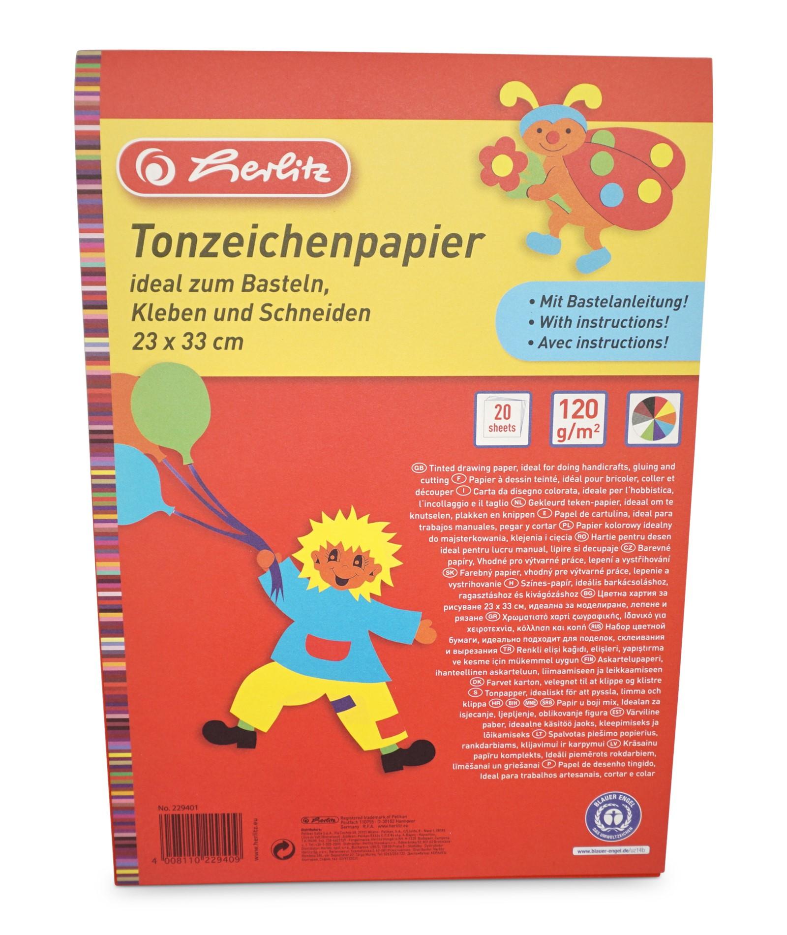 Herlitz  Tonzeichenkarton, 20 Blatt