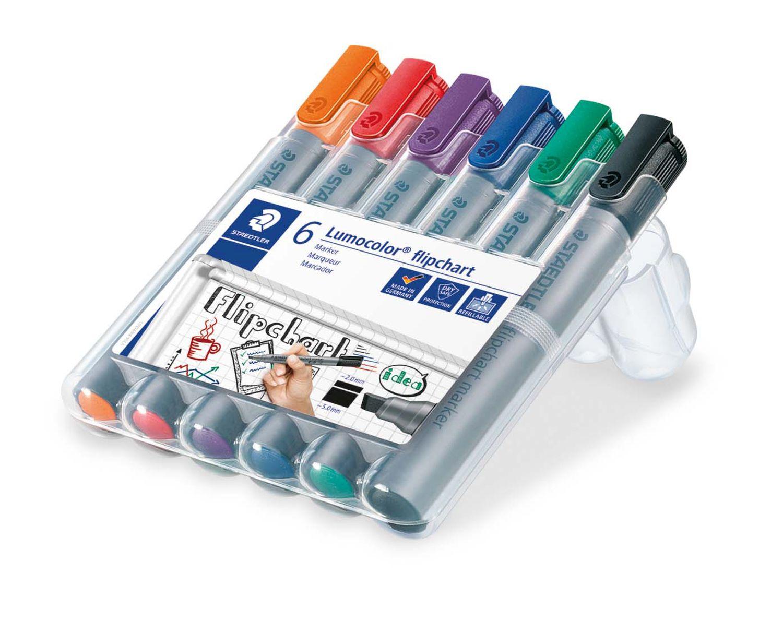 Staedtler Lumocolor Flipchart Marker, 6er Box