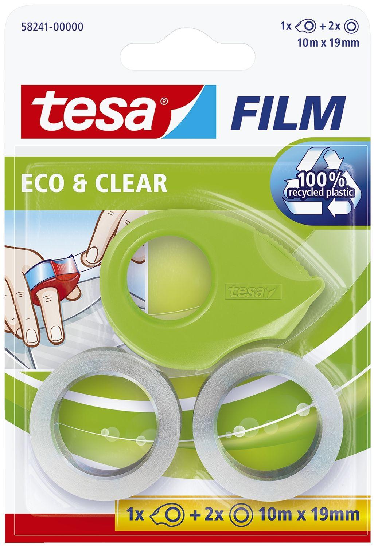 """tesa  Klebefilm """"Eco und Clear"""" mit Handabroller"""