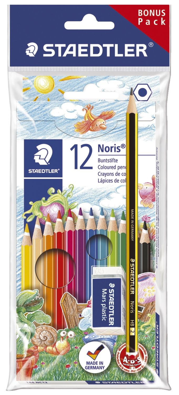 Staedtler Wopex Noris colour Buntstifte, 12er Pack