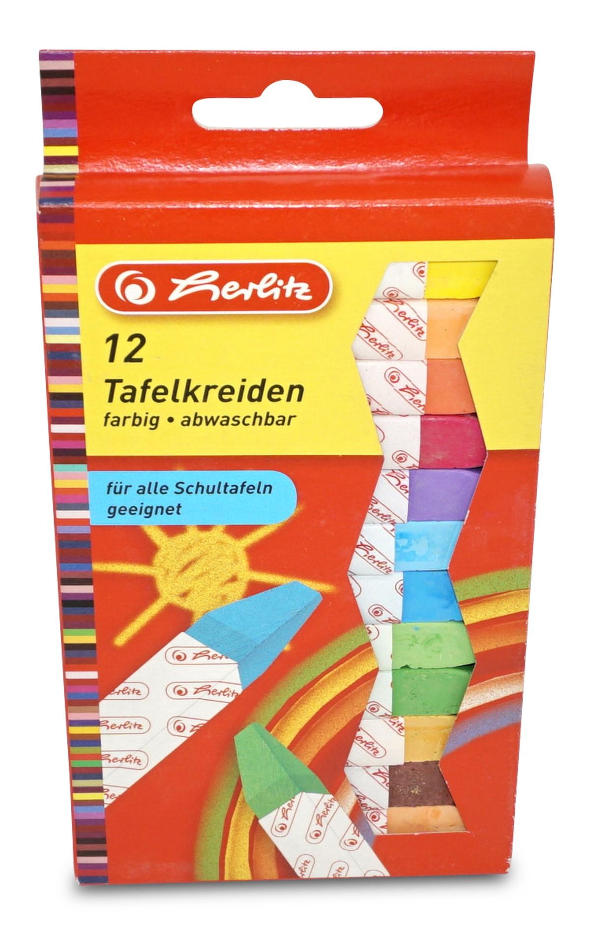 Herlitz  Bunte Kreide, 12 Stück