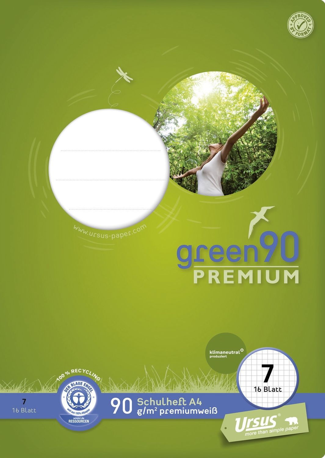 Ursus Green 90 Premiumheft, Recycling
