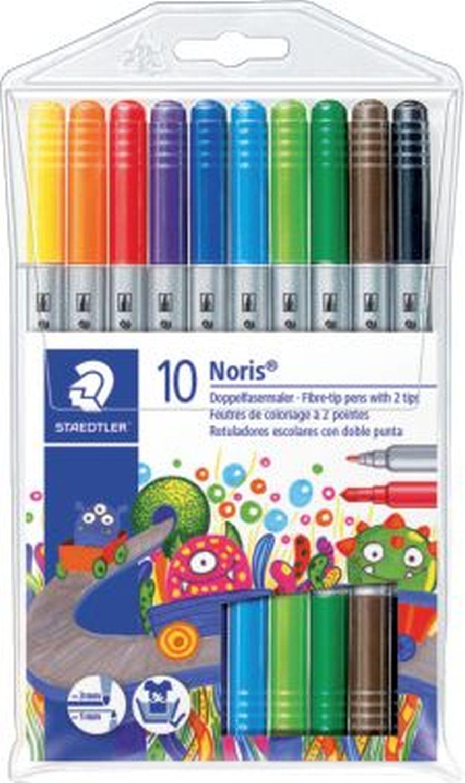 Staedtler Noris Club Filzstifte dick und dünn, 10 Farben