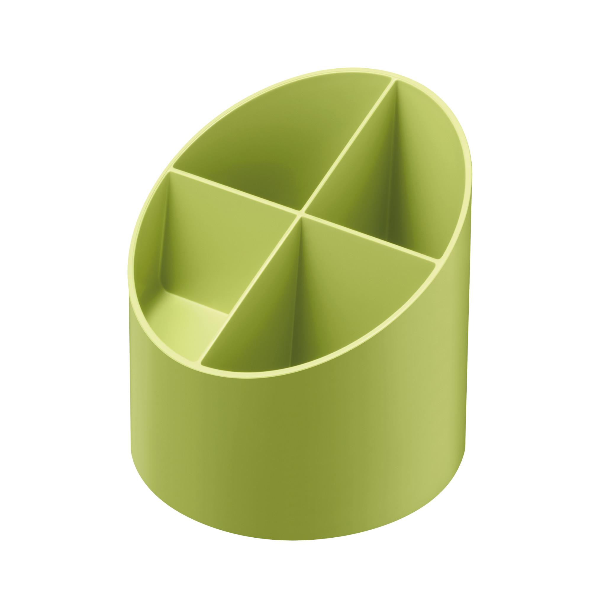 Herlitz Köcher rund recycling intensiv hellgrün