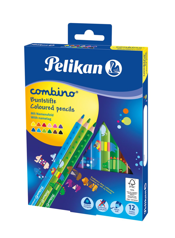 Pelikan Combino Buntstifte, dreikant, 12 Stück
