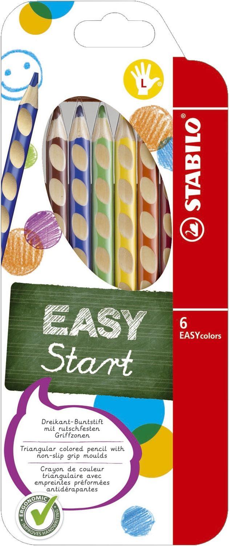 Stabilo EASYcolors Buntstifte für Linkshänder, 6er Pack