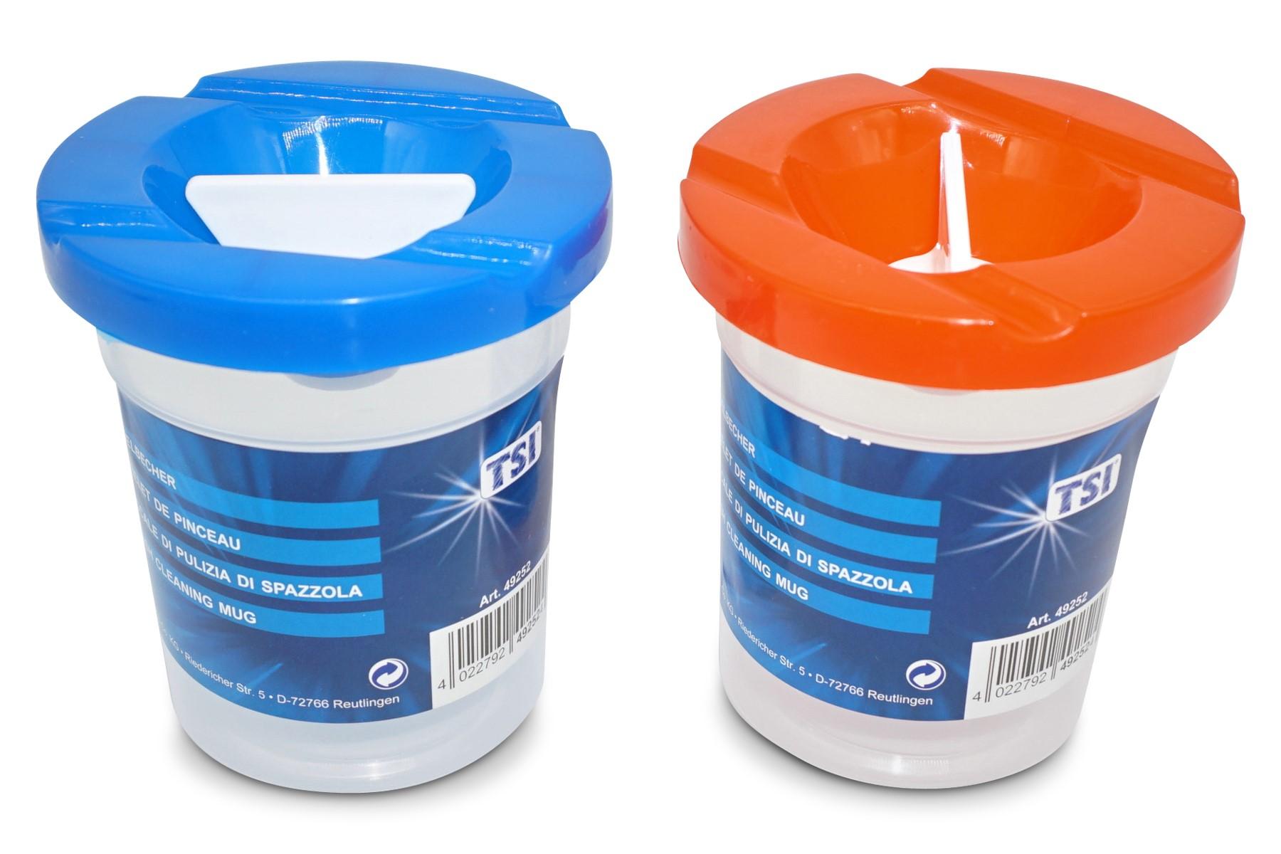 TSI  Pinselbecher rot / blau