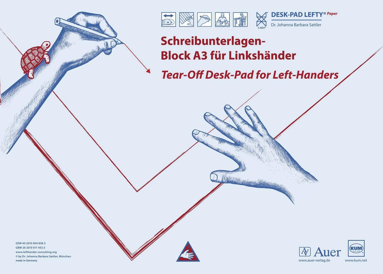 KUM  Schreibunterlage für Linkshänder, Papier