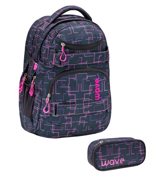 Wave Infinity Rucksack 2er-Set, Cubic Pink