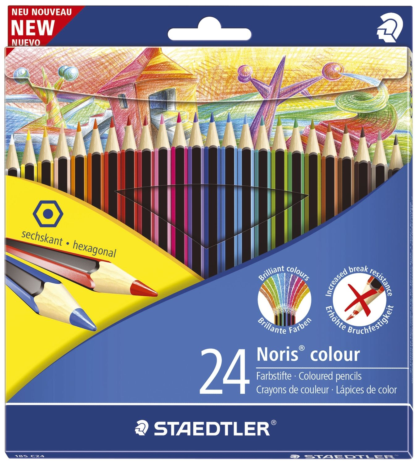 Staedtler Wopex Noris colour Buntstifte, 24er Pack