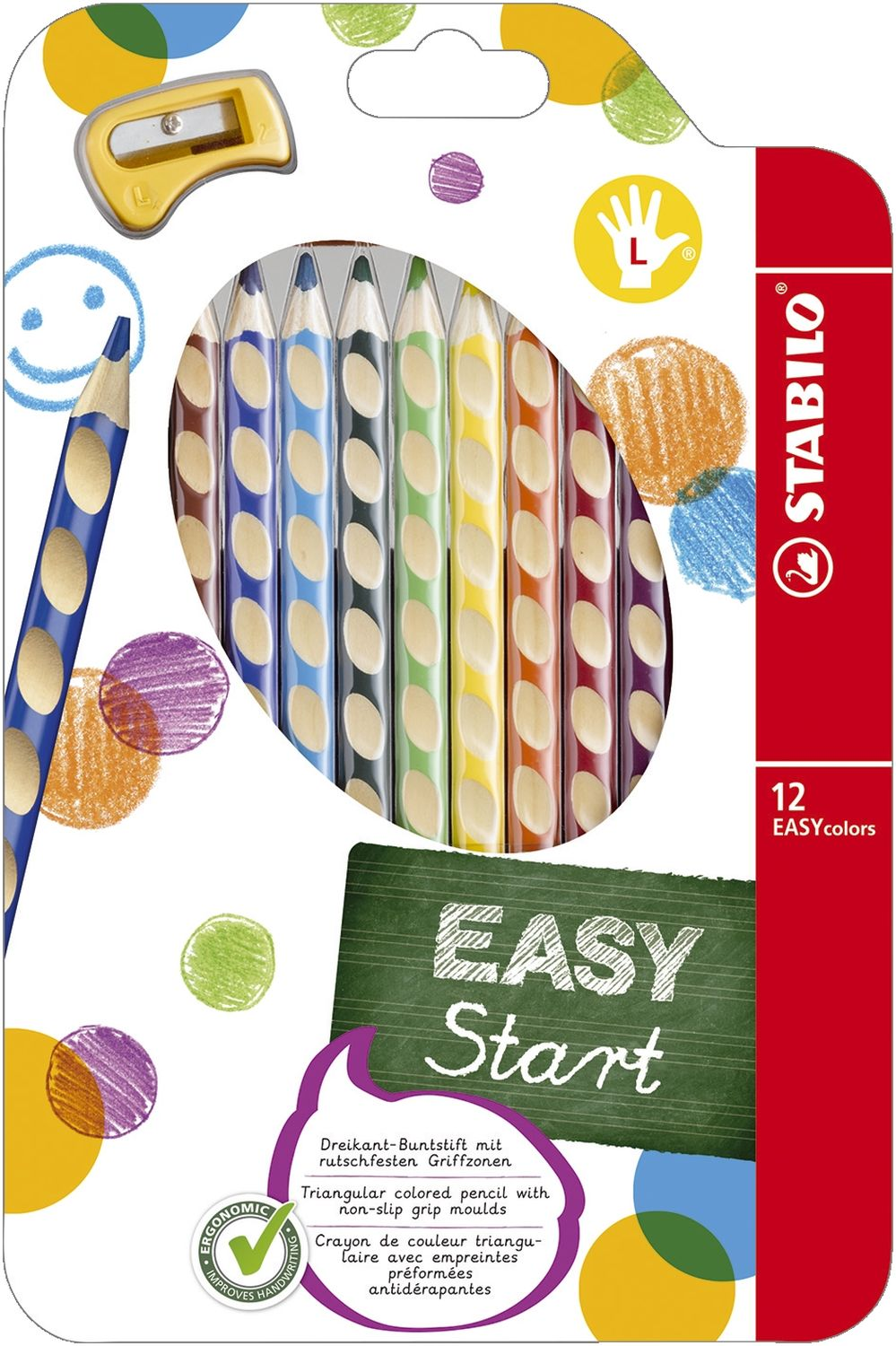 Stabilo EASYcolors Buntstifte Linkshänder, 12er Pack