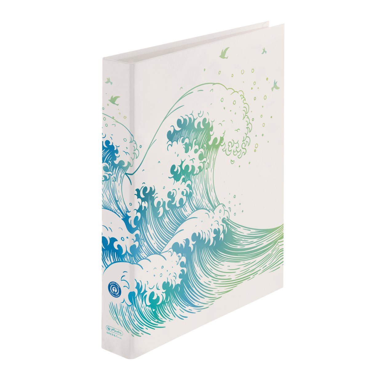 Herlitz Ringbuch maX.file 2-Ring A4 GREENline Welle