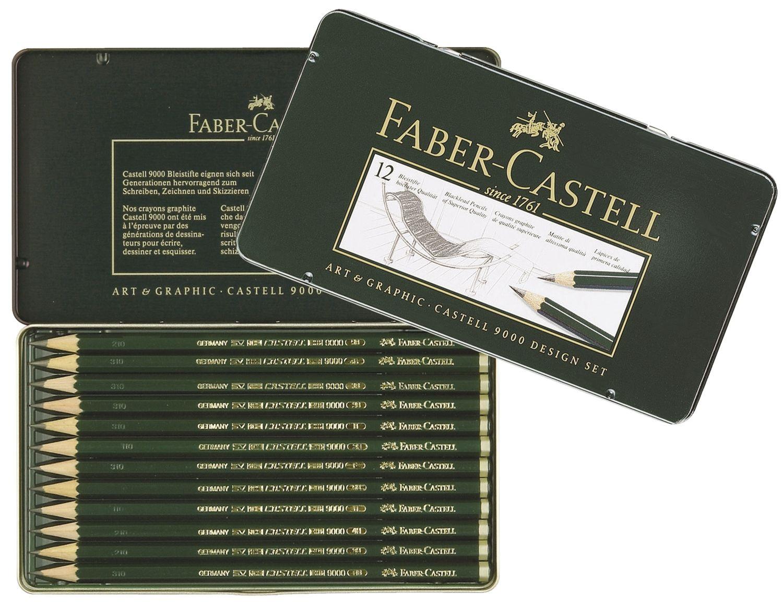 Faber-Castell  Bleistift-Set Design, 5B bis 5H