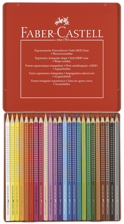 Faber-Castell Colour Grip Buntstifte 24 Farben im Metalletui