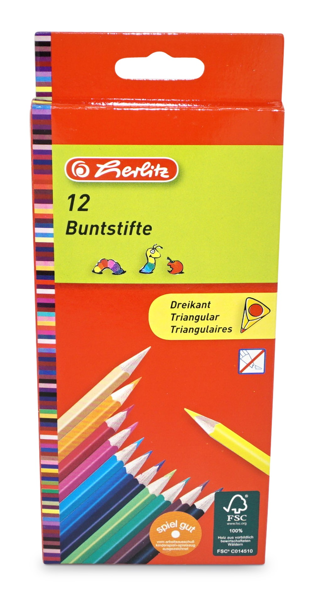 Herlitz  Buntstifte dreikant, 12er-Packung